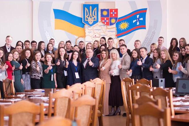 Відкриття звітно-виборчої конференції лідерів студентського самоврядування навчальних закладів Вінниччини