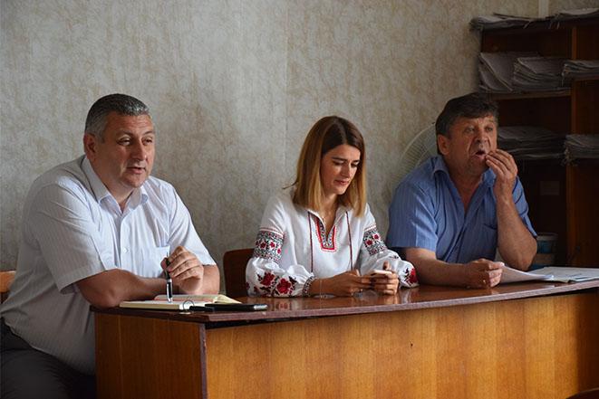 Зустріч із представниками громади Мазурівки на зборах щодо процесу об'єднання